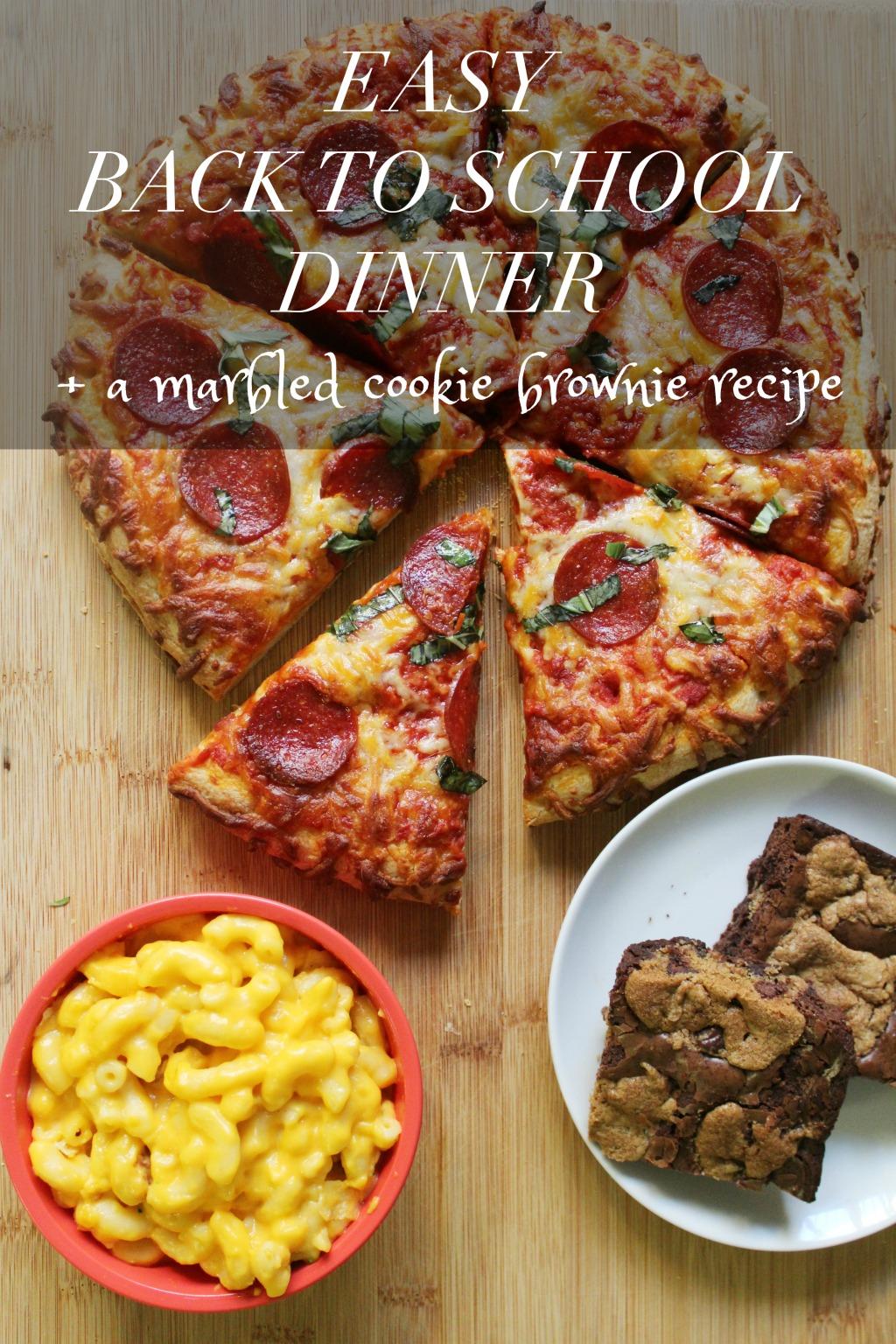 Easy BTS Dinner + Marbled Cookie Brownie Recipe
