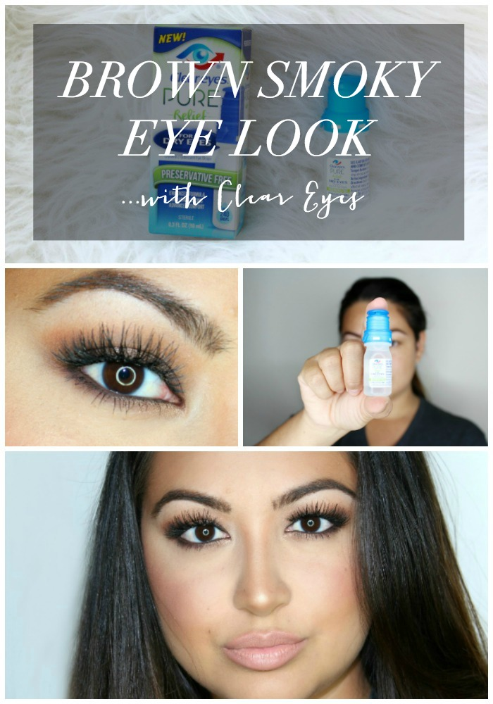 Smoky Brown Eye Look With Clear Eyes