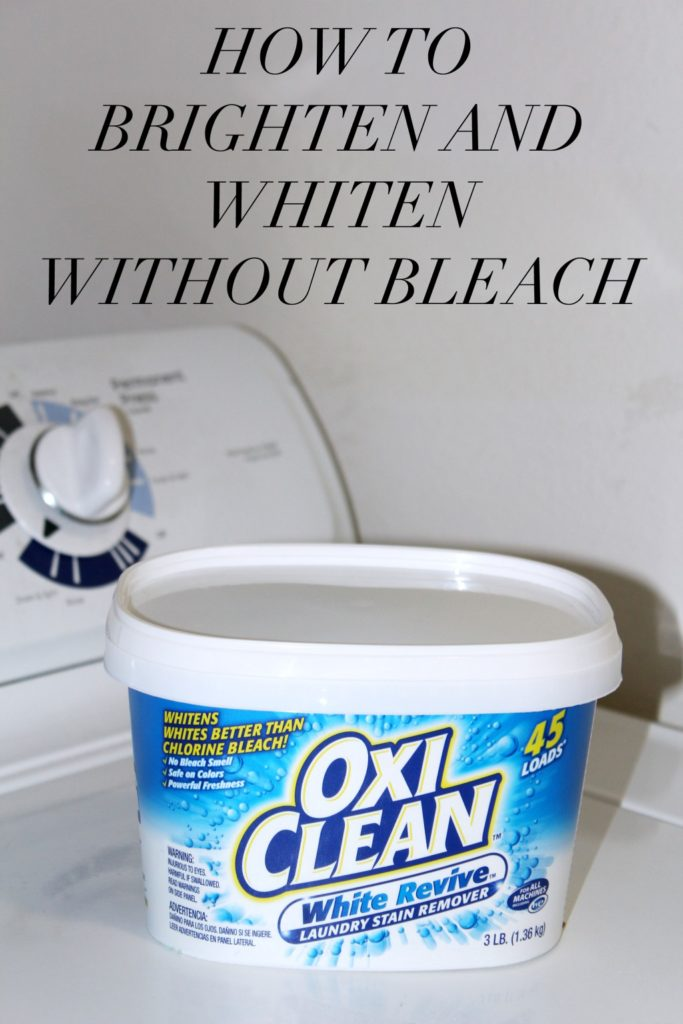 how to get stains out of white clothes without bleach