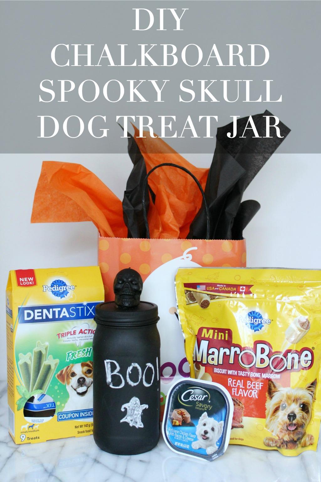 DIY Chalkboard Skull Dog Treat Jar