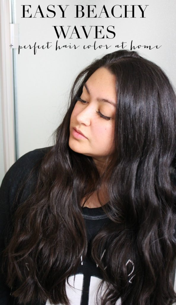 Easy Beachy Waves + At Home Hair Color - Andrea Bai